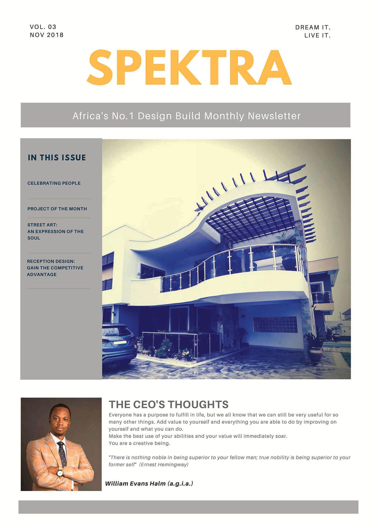Issue 3 November 2018 - Spektra Newsletter_front-1