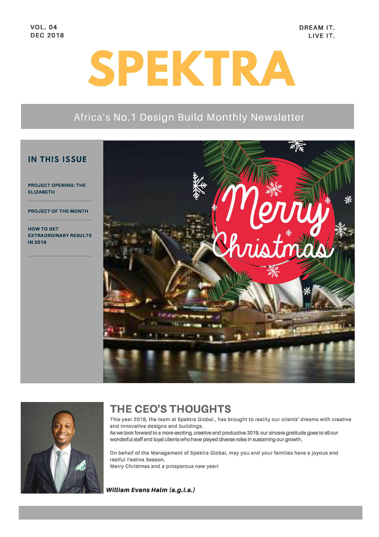 Issue 4 December 2018 - Spektra Newsletter_front-1